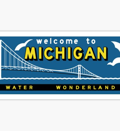 Welcome to Michigan, Vintage Road Sign 60s, USA Sticker