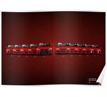 History - Mitsubishi Lancer Evolution - Red Poster