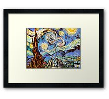 Starry night a Tribute to Vincent Vangogh Framed Print