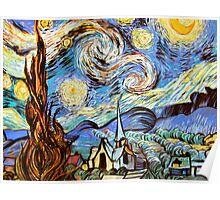 Starry night a Tribute to Vincent Vangogh Poster