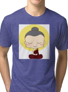 Buddhist Praying Tri-blend T-Shirt