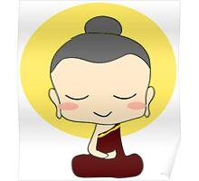 Buddhist Praying Poster