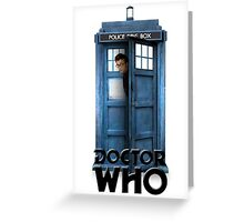 Doctor Who - 10 Peeking out of the Tardis Greeting Card