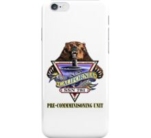 SSN-781 USS California Pre-Commissioning Crest iPhone Case/Skin