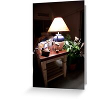 Cottage Evening Greeting Card