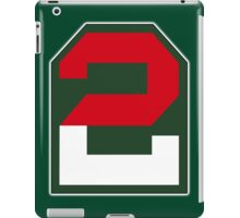 2, two, ARMY, US, USA, America, American, Second Army, 2nd Army, Shoulder Sleeve, Insignia. USA, America, American iPad Case/Skin