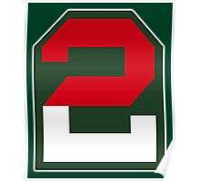 2, two, ARMY, US, USA, America, American, Second Army, 2nd Army, Shoulder Sleeve, Insignia. USA, America, American Poster