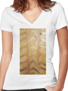 Summer Arrows Women's Fitted V-Neck T-Shirt