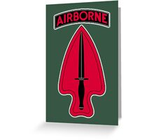 ARMY, AIRBORNE, United States, US, USA, America, American, Special Operations, Command. America, American Greeting Card