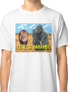 Cecil and Harambe R.I.P. Classic T-Shirt
