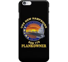 SSS-778 USS New Hampshire Plank Owner Crest for Dark Colors iPhone Case/Skin