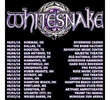WHITESNAKE TOUR DATE 2016 Photographic Print