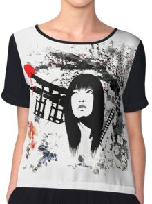 Japanese Geisha Warrior Chiffon Top