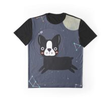 Boston Terrier In Space Graphic T-Shirt