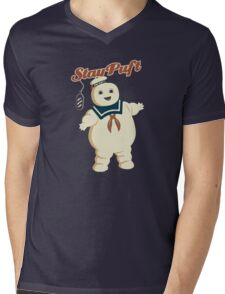 STAY PUFT - MARSHMALLOW MAN GHOSTBUSTERS Mens V-Neck T-Shirt