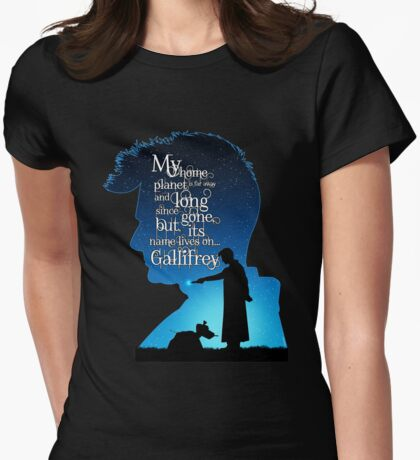 My Home Planet - Tardis Blue Womens Fitted T-Shirt