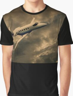 Jet Through The Clouds  Graphic T-Shirt