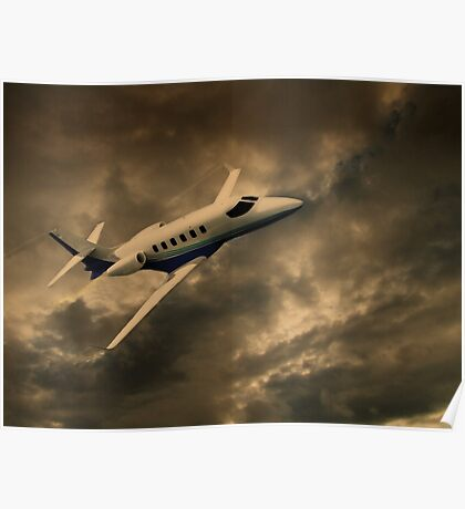 Jet Through The Clouds  Poster