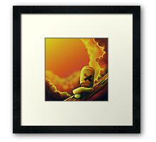 Watching the sunset clouds go by Framed Print