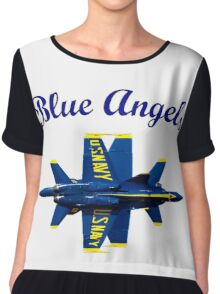 Blue Angels Flight Demonstration Team Chiffon Top