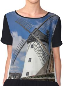 Windmill at Lytham St. Annes - England Chiffon Top