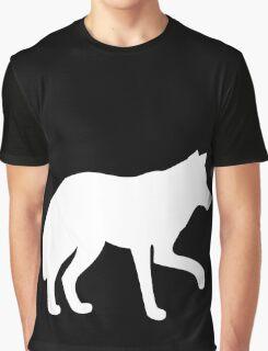 White standing wolf Graphic T-Shirt