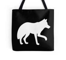 White standing wolf Tote Bag