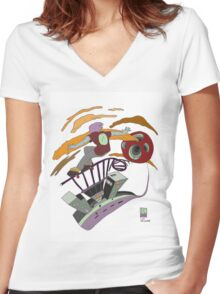Skate the city- Urban outfiT Women's Fitted V-Neck T-Shirt