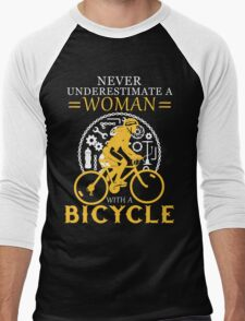 Never underestimate a bicycle woman Men's Baseball ¾ T-Shirt
