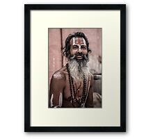 Sadhu in Varanasi, India Framed Print