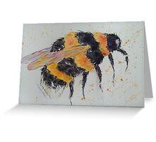 Orange and yellow bumble bee Greeting Card