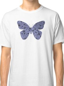 Blue Raindrops Butterfly  Classic T-Shirt