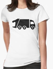 Garbage car Womens Fitted T-Shirt