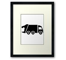 Garbage car Framed Print