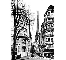 paris and the eiffeltower Photographic Print