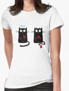 CatDevilsAndAngels Womens Fitted T-Shirt