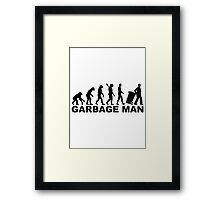 Evolution garbage man Framed Print