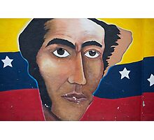 Political graffiti in Otavalo, flag and American Bald Eagle Photographic Print