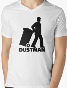 Dustman Mens V-Neck T-Shirt