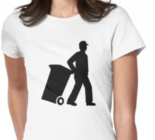 Garbage man Womens Fitted T-Shirt