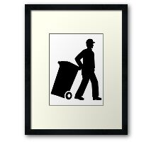 Garbage man Framed Print
