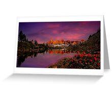 Dachstein on fire Greeting Card
