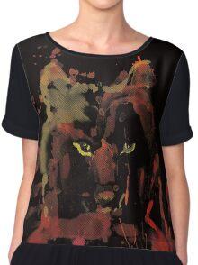 watercolor foxy 2 Women's Chiffon Top