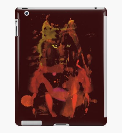 watercolor foxy 2 iPad Case/Skin