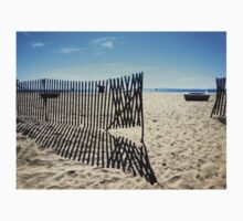 Symmetrical Fence Silhouette at the Beach Baby Tee