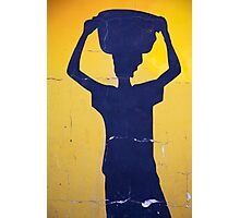 Blue shape of an African woman Photographic Print