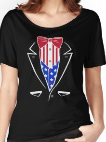 American Patriot Tuxedo Women's Relaxed Fit T-Shirt