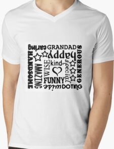 Grandad Design Gift Mens V-Neck T-Shirt