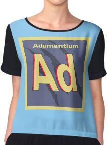 Adamantium Periodic Element Chiffon Top