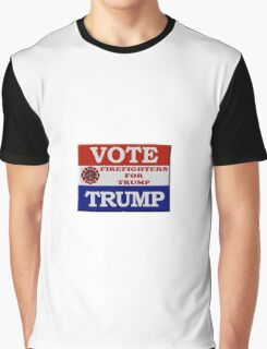 Firefighters for Trump Graphic T-Shirt